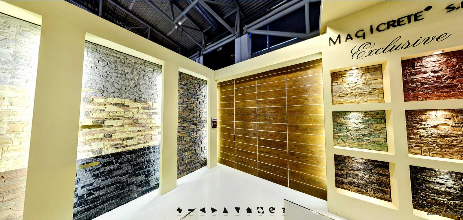 Virtual Exhibition Stand : Construction trade fair bau magicrete molds